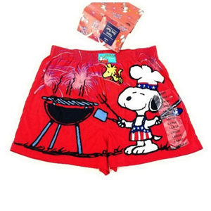 Peanuts Shorts - Peanuts Snoopy King of the Grill Sleep Shorts